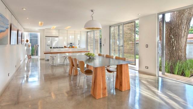 Sala de Jantar e cozinha. (Fonte: Archdaily).