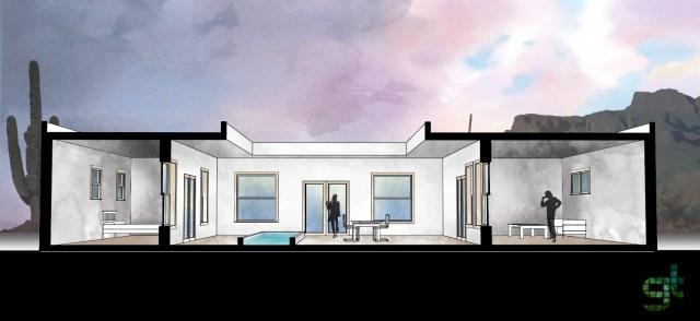 Casa adaptada ao clima desértico. (Greentopia)