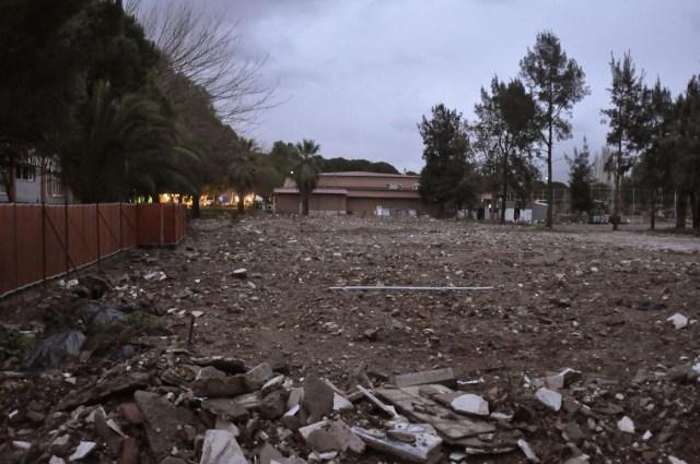 As condições do terreno antes da construção do Container Park. (Fonte: Archdaily).