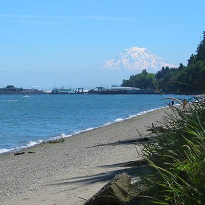 Mt. Rainier from Owens Beach at Point Defiance Park