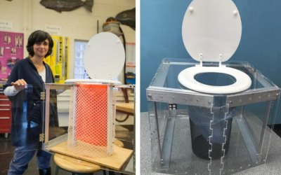 Portable off grid toilets don't need plumbing, water or electricity: Diana Yousef