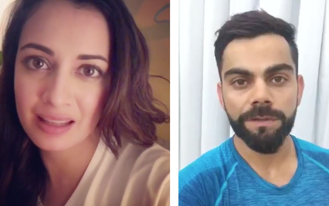 Virat Kohli  to Dia Mirza: Celebrities pitch for green pollution free Diwali