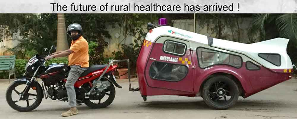 Solar ambulance Ambupod from India