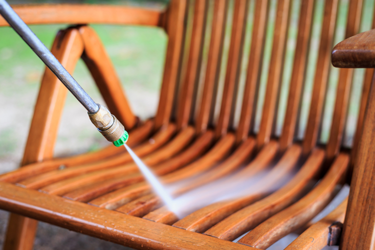 Power wash chair
