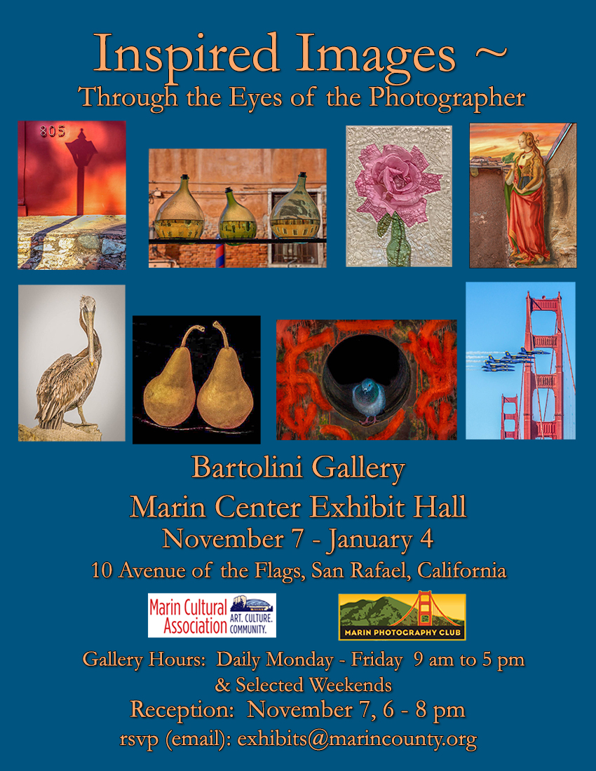 Invitation: Inspired Images~Marin Center Exhibit it Hall~Bertolini Gallery