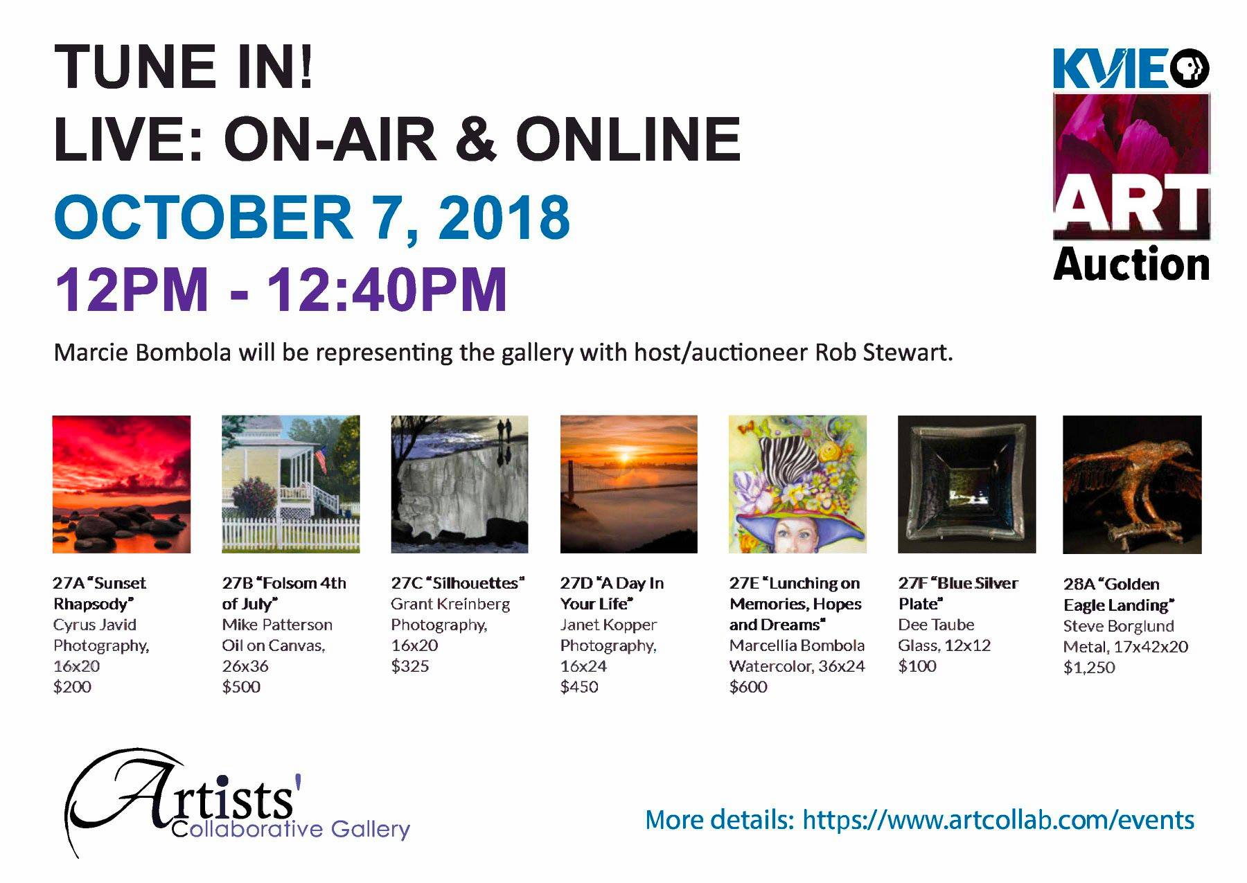 Artists' Collaborative Gallery – Old Sacramento Auction