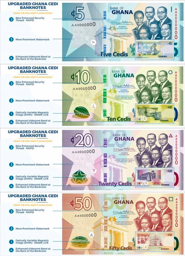 Real Ghana Cedi notes