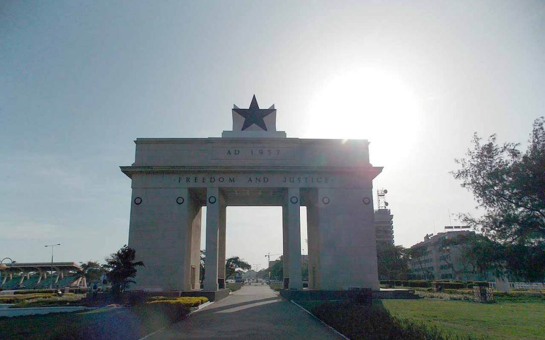 The Independence Arch in Accra