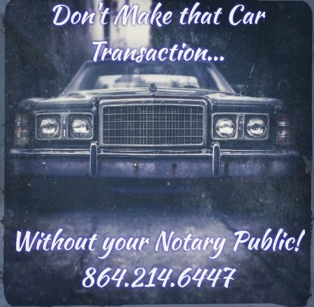 Car Vehicle Transaction Notary