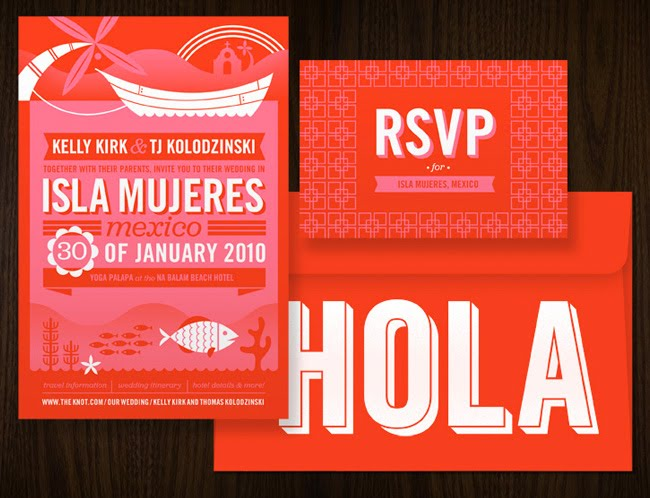 Mexico Pport Wedding Invitation