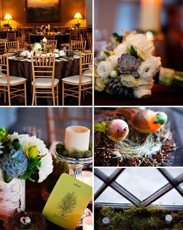 winter wedding details