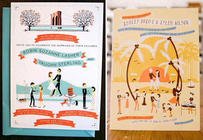 Whimsical Wedding Invitations From Anna