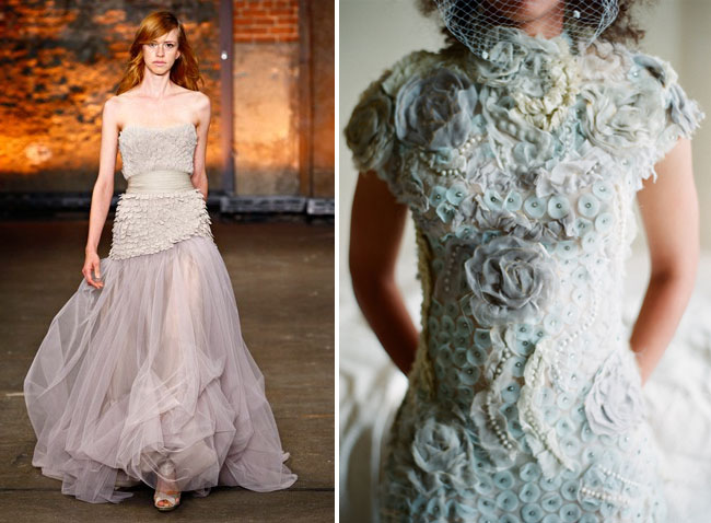 Wedding Dresses With A Touch Of Color