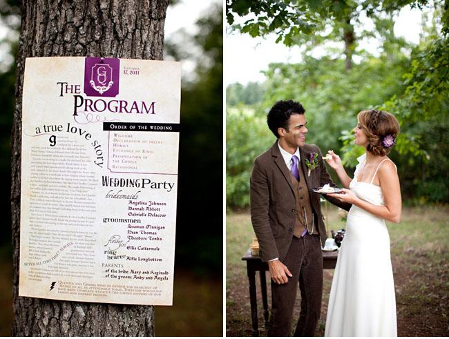 harry potter wedding program