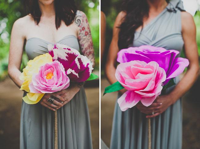 Handmade Paper Flower Wedding: Nata + Jess