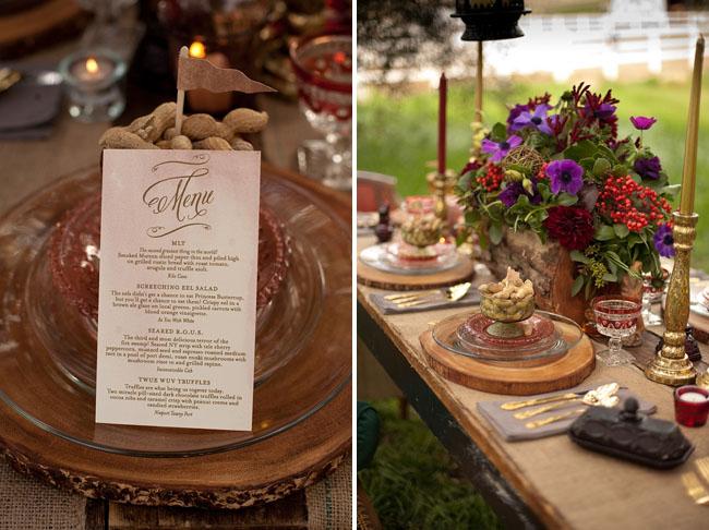 Prince Bride Rustic Tablescape