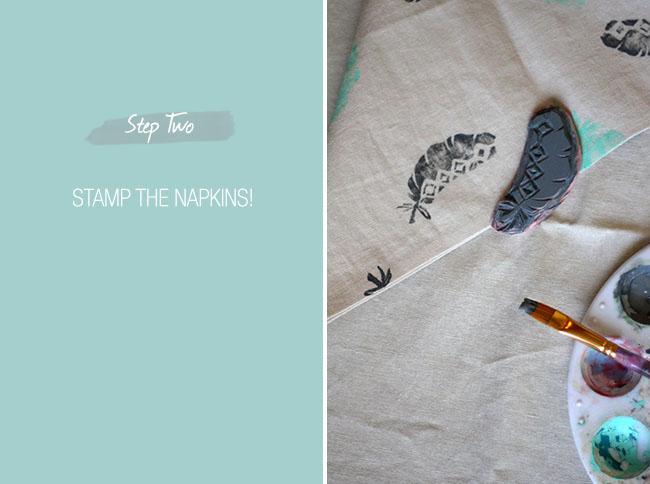 diy-stamped-napkin-step2