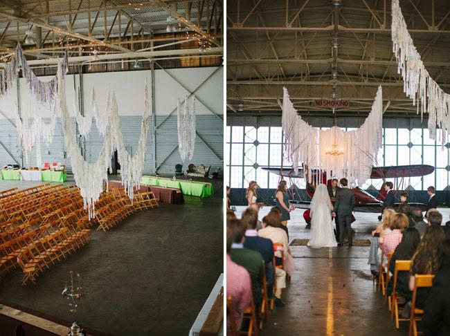 Whimsical Wedding In An Airplane Hangar Alex Keith