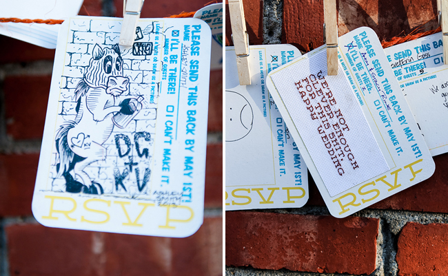 Graffiti Seating Cards