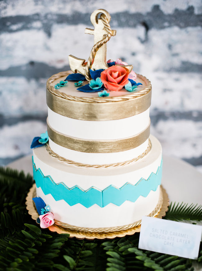 Nautical Theme Wedding Cake