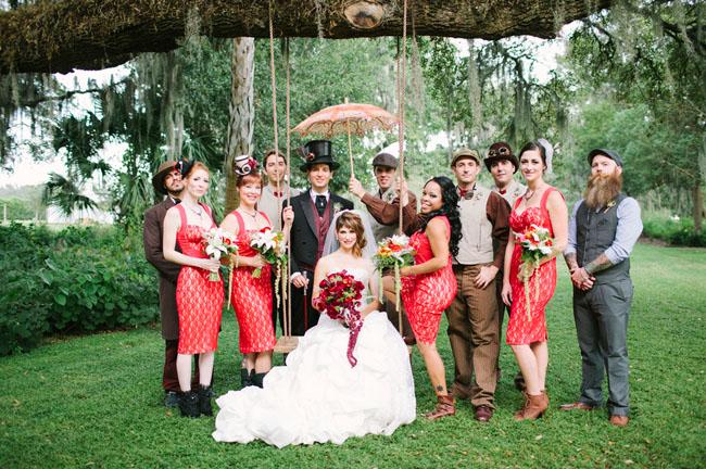 Victorian-Steampunk Inspired Wedding: Niki + Leo
