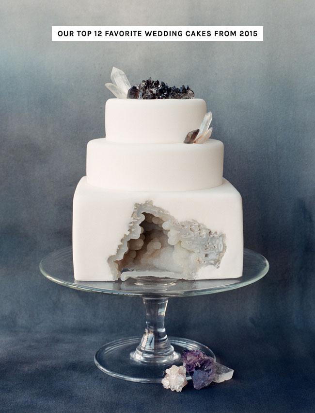 Our Favorite Wedding Cakes from 2015   Green Wedding Shoes Fave Wedding Cakes of 2015