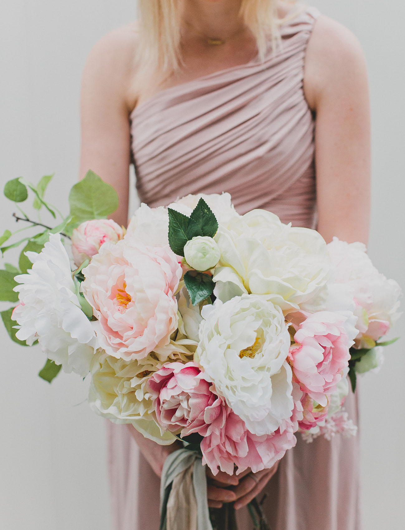 DIY Silk Flower Bouquet With Afloral Green Wedding Shoes