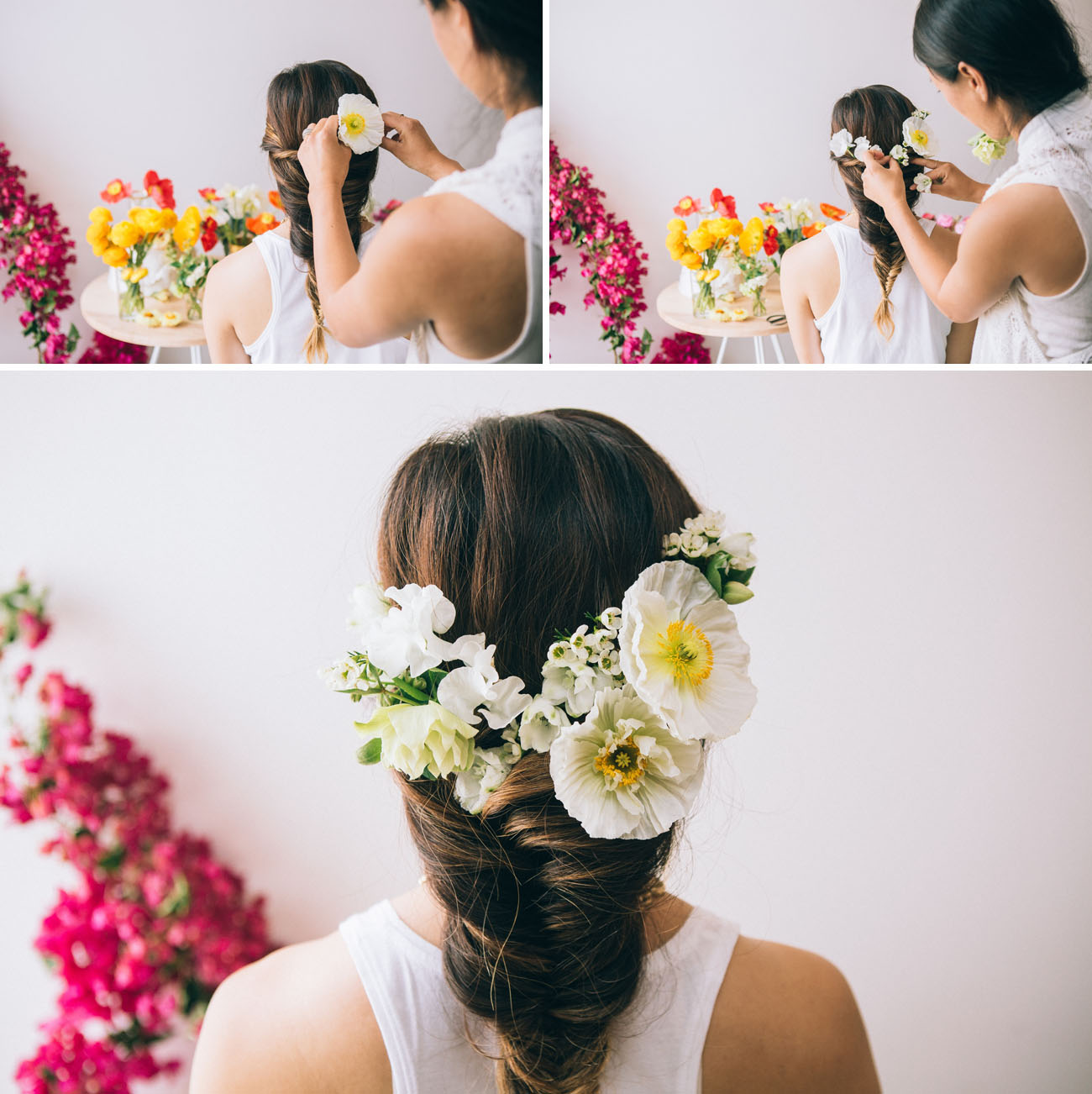 Flower Fishtail Braid