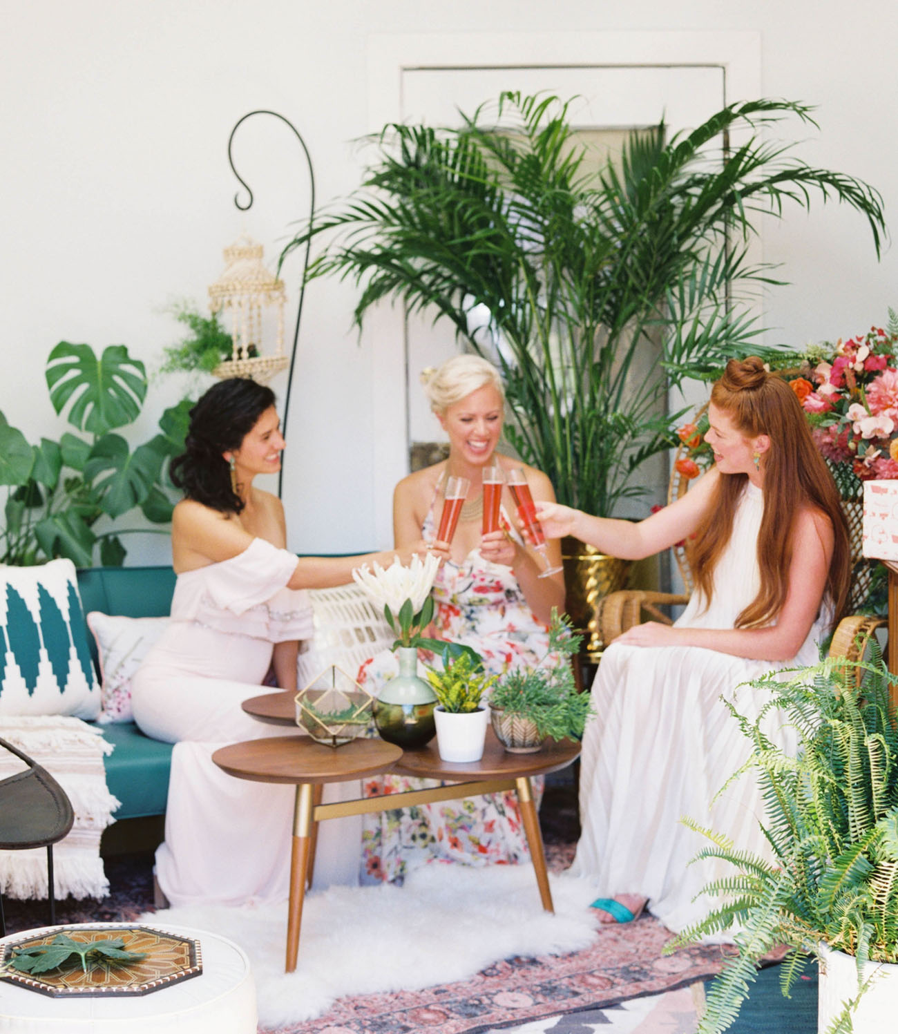 How To Throw A Tropical Bridal Shower Green Wedding