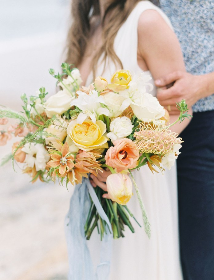 yellow ranunculus bouquet