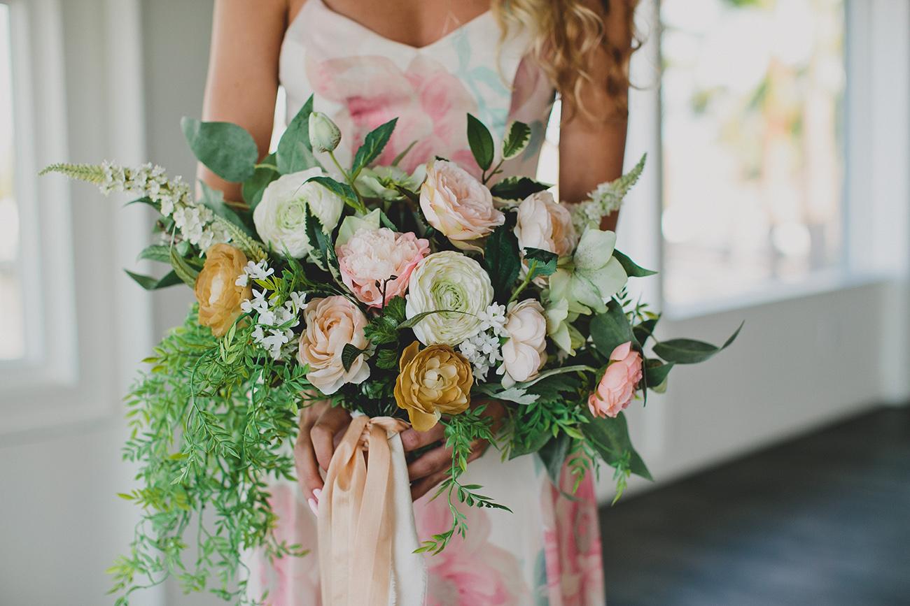 DIY Silk Flower Bouquet For An Elopement
