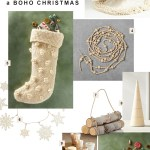 Boho Christmas Decor Ideas Green Wedding Shoes