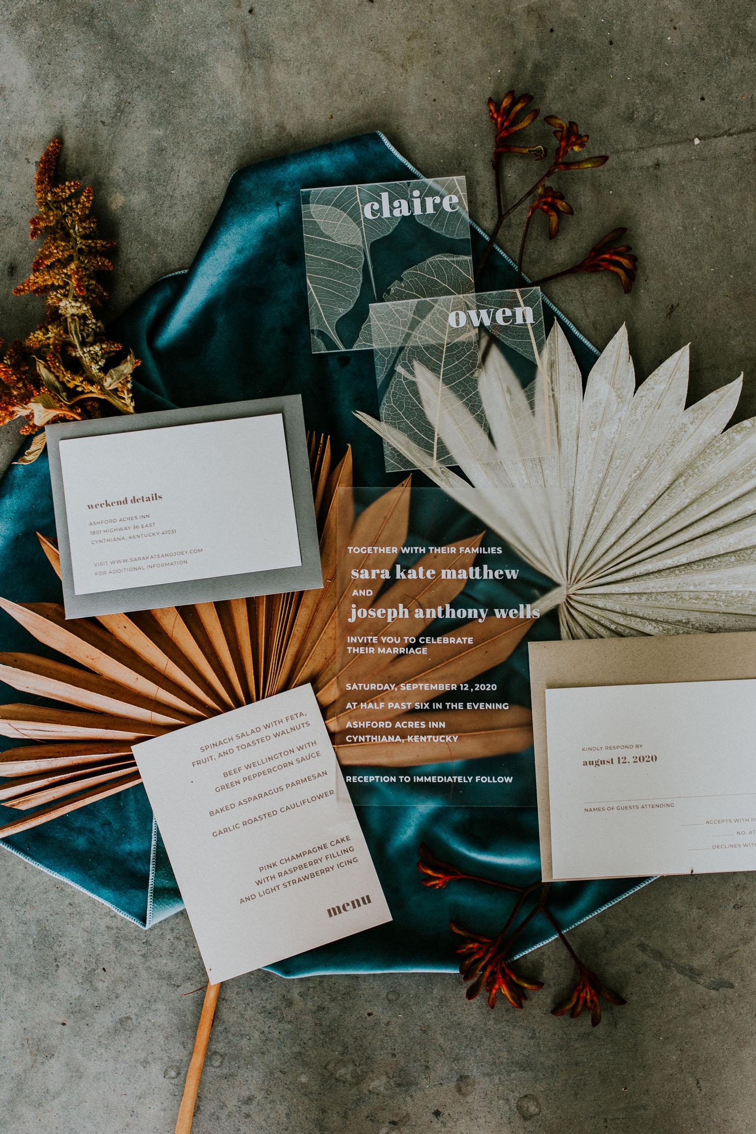 acrylic invitation suite