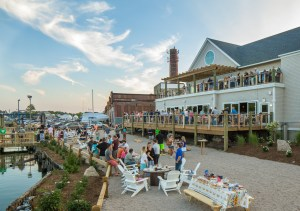 Connecticut's craft beer served at waterfront bar at Stony Creek Brewery