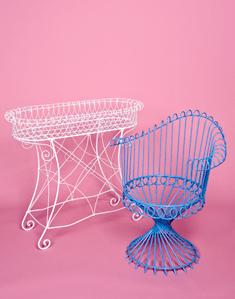 wrought iron aluminum furniture