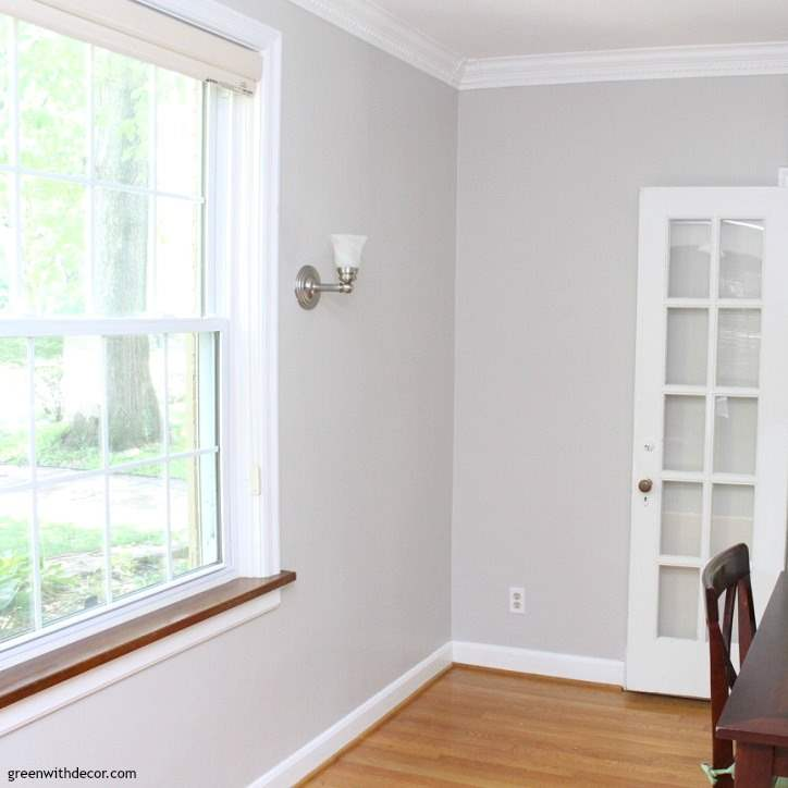 The Painted Dining Room Agreeable Gray Green With Decor