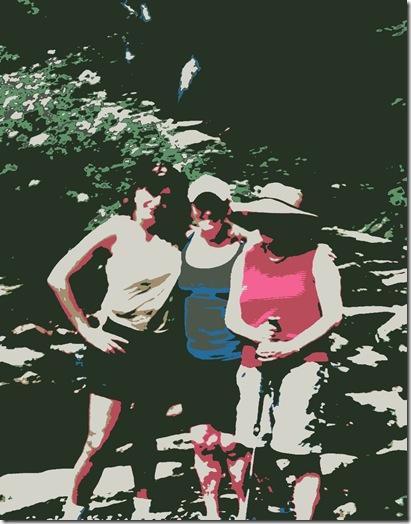 girlfriends hike cartoon