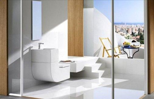 Washbasin + Watercloset by  Eco Friendly, Space Saving Toilet & Washbasin Combo from Roca