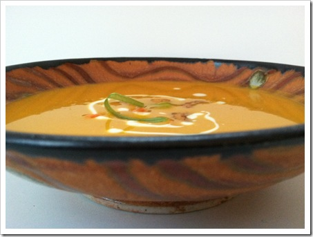 curried carrot soup meatless monday
