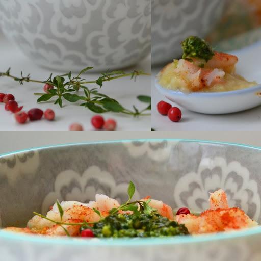 roasted shrimp and cauliflower soup