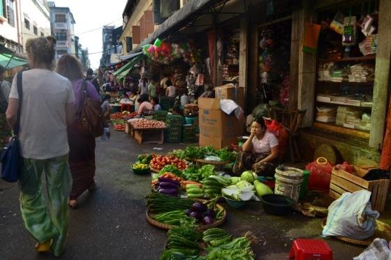 Theingyi Zei market burma
