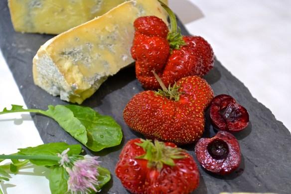 cheese plate fruit cheese berkshire blue