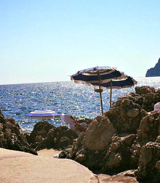 Beach club La Fontelina on Capri
