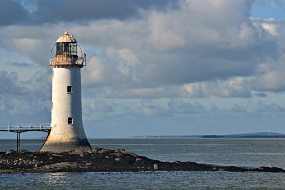 Tarbert lighthouse just off the ferry