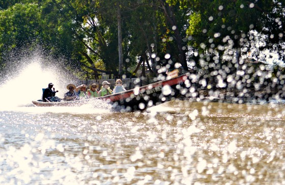 boat traffic on Inle Lake, Myanmar