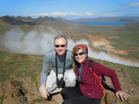 Dr. Weinberg and his wife Lynn in Iceland