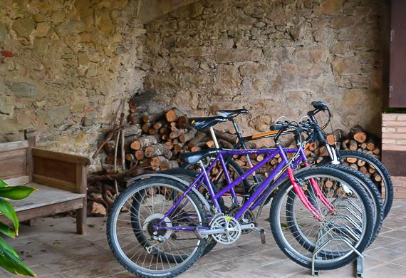 Biking in romantic Madremanya, Spain