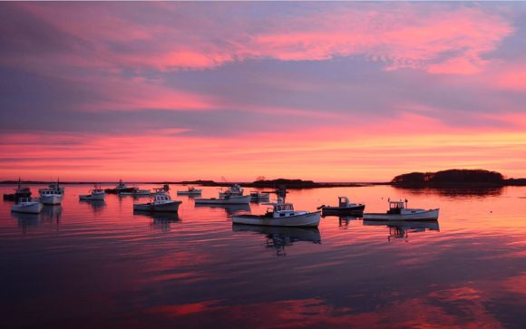 Sunset in southern Maine