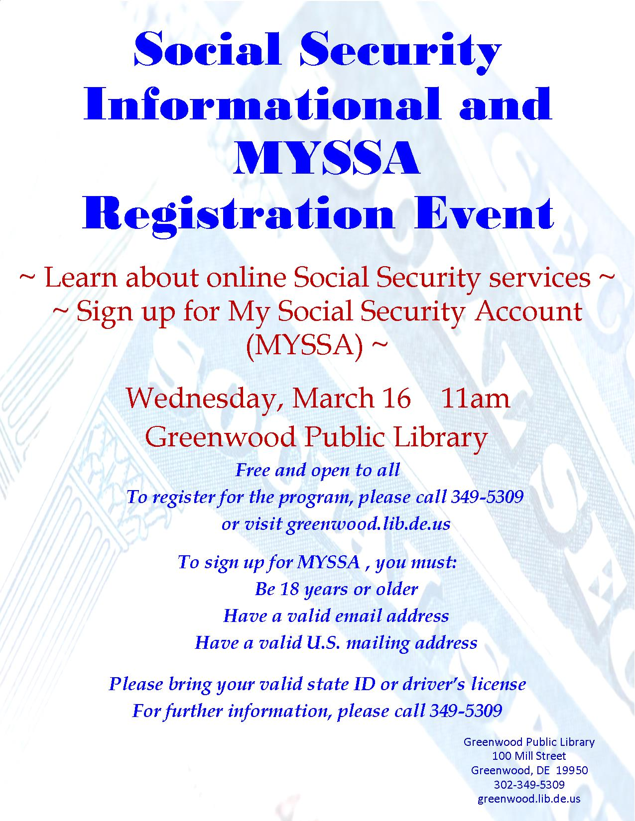 Social Security Informational Session