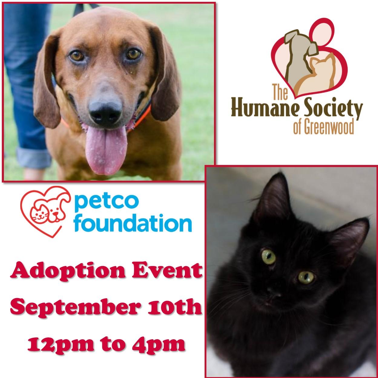 Petco Adoption Event - Greenwood Calendar
